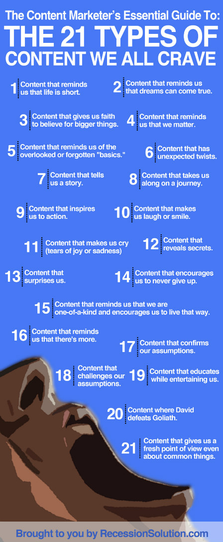 21 types of content we crave infographic